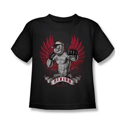 Popeye - Undefeated Juvee T-Shirt In Black