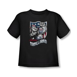 Popeye - Strong & Proud Toddler T-Shirt In Black
