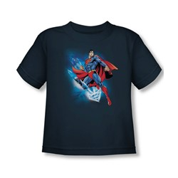 Superman - Crystalize Toddler T-Shirt In Navy