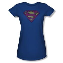 Superman - Superman Little Logos Juniors T-Shirt In Royal