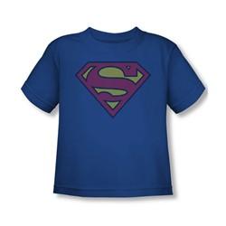 Superman - Superman Little Logos Toddler T-Shirt In Royal