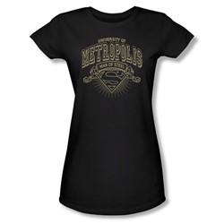 Superman - University Of Metropolis Juniors T-Shirt In Black