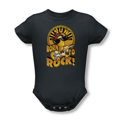 Sun Records - Born To Rock Infant T-Shirt In Charcoal