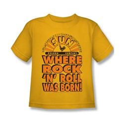Sun Records - Where Rock Was Born Juvee T-Shirt In Gold