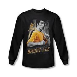 Bruce Lee - Mens Yellow Dragon Longsleeve T-Shirt