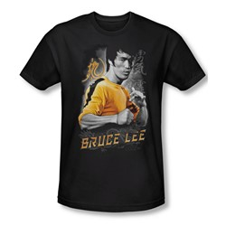 Bruce Lee - Mens Yellow Dragon Slim Fit T-Shirt