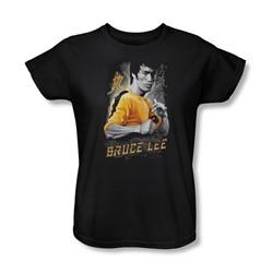 Bruce Lee - Womens Yellow Dragon T-Shirt