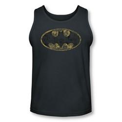 Batman - Mens Tattered Logo Tank-Top