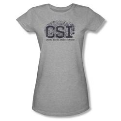Csi - Juniors Distressed Logo Sheer T-Shirt