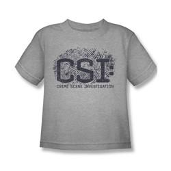 Csi - Little Boys Distressed Logo T-Shirt