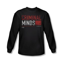 Criminal Minds - Mens Title Card Longsleeve T-Shirt
