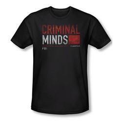 Criminal Minds - Mens Title Card Slim Fit T-Shirt
