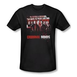 Criminal Minds - Mens Think Like One Slim Fit T-Shirt