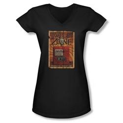 Twilight Zone - Juniors Seer V-Neck T-Shirt