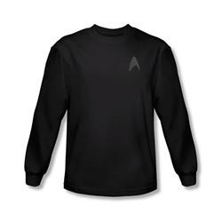 Star Trek - Mens Darkness Command Logo Longsleeve T-Shirt
