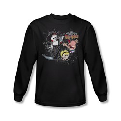 Billy & Mandy - Mens Splatter Cast Longsleeve T-Shirt