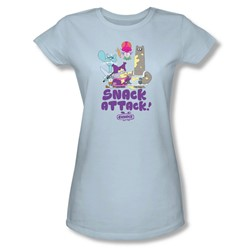 Chowder - Juniors Snack Attack Sheer T-Shirt