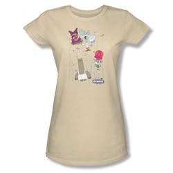 Chowder - Juniors Dots Collage Sheer T-Shirt