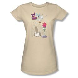 Chowder - Juniors Dots Collage Sheer T-Shirt