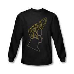 Johnny Bravo - Mens Bravo Hair Longsleeve T-Shirt