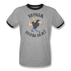 Johnny Bravo - Mens Whoa Momma Ringer T-Shirt