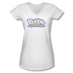Dubble Bubble - Juniors Bubble Blox V-Neck T-Shirt