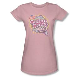 Dubble Bubble - Juniors Cotton Candy Sheer T-Shirt
