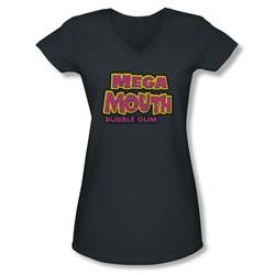 Dubble Bubble - Juniors Mega Mouth V-Neck T-Shirt