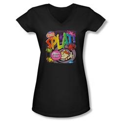 Dubble Bubble - Juniors Splat Gum V-Neck T-Shirt