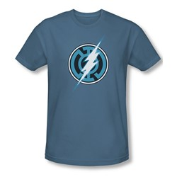 Green Lantern - Mens Blue Lantern Flash Slim Fit T-Shirt