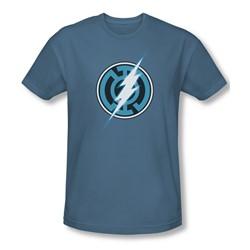 Green Lantern - Mens Blue Lantern Flash Slim Fit T-Shirt