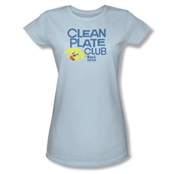 Ken L Ration - Juniors Clean Plate Sheer T-Shirt