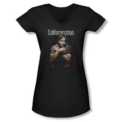 Californication - Juniors Smoking V-Neck T-Shirt
