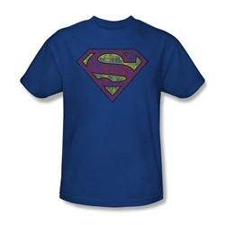 Superman - Mens Tattered Shield T-Shirt