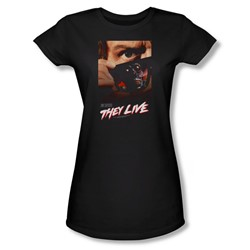 They Live - Juniors Poster Sheer T-Shirt