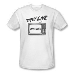 They Live - Mens Consume Slim Fit T-Shirt