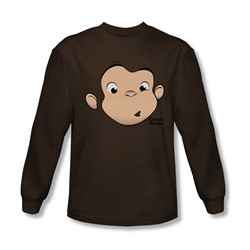 Curious George - Mens George Face Longsleeve T-Shirt