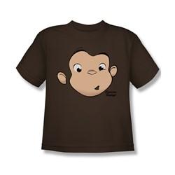 Curious George - Big Boys George Face T-Shirt