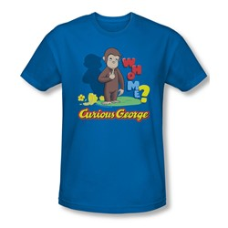 Curious George - Mens Who Me Slim Fit T-Shirt