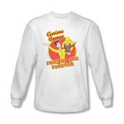 Curious George - Mens Friends Longsleeve T-Shirt