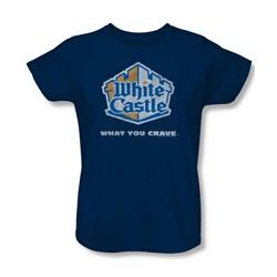 White Castle - Womens Distressed Logo T-Shirt