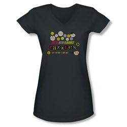 Dubble Bubble - Juniors Razzles Retro Box V-Neck T-Shirt