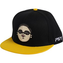 Psy - Face Yellow Hat Hat in Black/Yellow