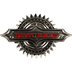 Disturbed - Spiker  Belt Buckle In Grey