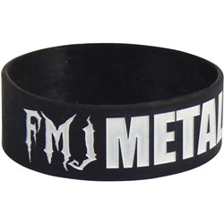 Full Metal Jackie - Mens Metal as F&%k Wristband in Black