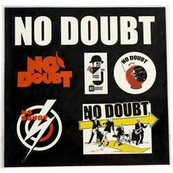 No Doubt - Nd Sticker Sheet Sticker In Black/White/Orange/Yellow