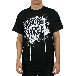 Minor Threat Drip Adult T-shirt in Black