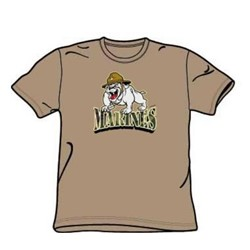 Marines - Camo Type - Adult Khaki S/S T-Shirt For Men