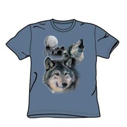Wolves - Adult Slate S/S T-Shirt For Men