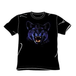 Panther - Adult Black S/S T-Shirt For Men